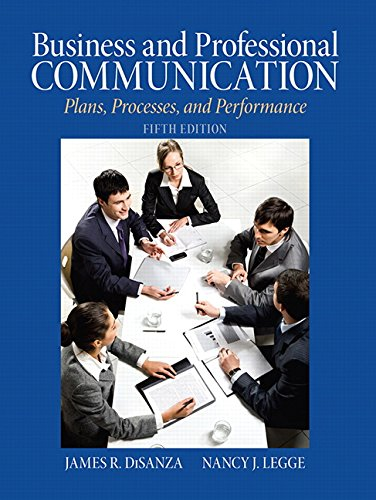 9780205721498: Business & Professional Communication: Plans, Processes, and Performance (5th Edition)