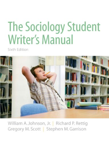 9780205723454: The Sociology Student Writer's Manual (6th Edition)