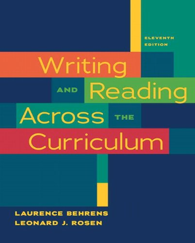 9780205727650: Writing and Reading Across the Curriculum (11th Edition)