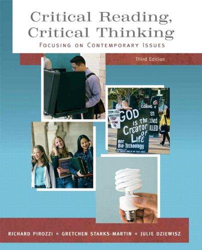 9780205727933: Critical Reading Critical Thinking: Focusing on Contemporary Issues (with MyReadingLab Student Access Code Card) (3rd Edition)