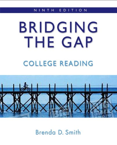 9780205727971: Bridging the Gap: College Reading (with MyReadingLab Student Access Code Card) (9th Edition)