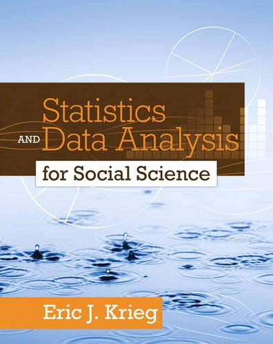 9780205728275: Statistics and Data Analysis for Social Science