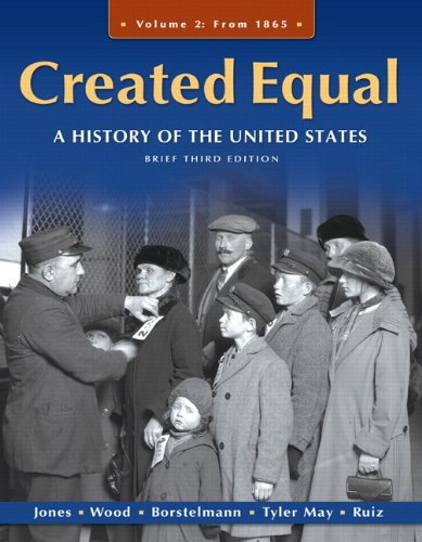 9780205728893: Created Equal: A History of the United States, Brief Edition, Volume 2 (3rd Edition)