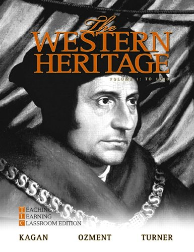9780205728923: The Western Heritage, Vol. 1, 6th Teaching and Learning Classroom Edition