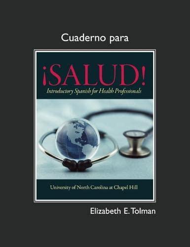 9780205730155: Cuaderno for ¡Salud!