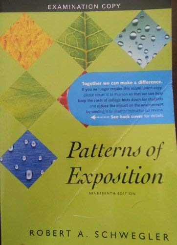 9780205731787: Patterns of Exposition