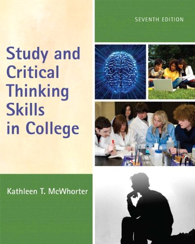 9780205734801: Study and Critical Thinking Skills in College (7th Edition)