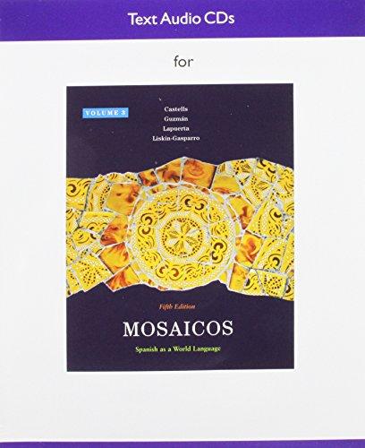 9780205736256: Audio CD for Mosaicos, Volume 3