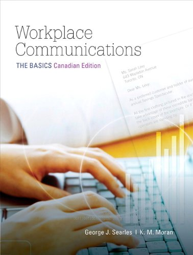 9780205736478: Workplace Communications: The Basics, First Canadian Edition