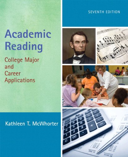 9780205736584: Academic Reading: College Major and Career Applications (7th Edition)