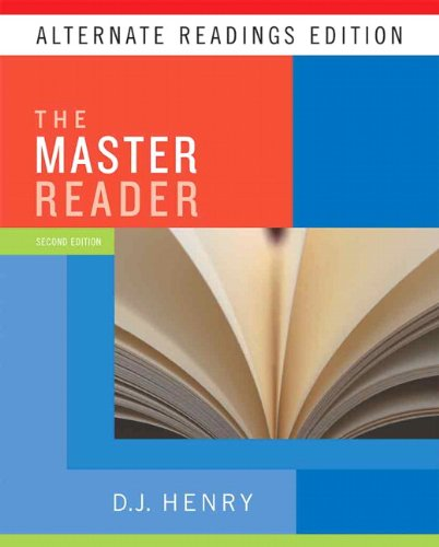 9780205737130: Master Reader, The, Alternate Reading Edition (2nd Edition)