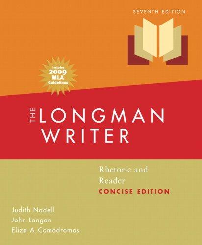 Longman Writer, The, Concise Edition, MLA Update: Judith Nadell, John