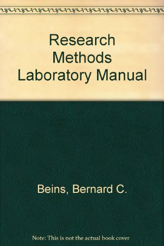 9780205741700: Research Methods Laboratory Manual