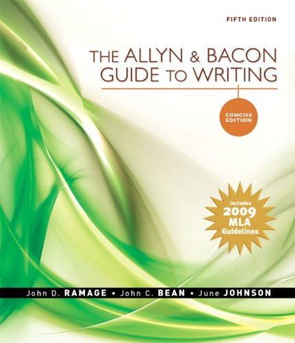 Allyn & Bacon Guide to Writing, Concise: John D. Ramage,
