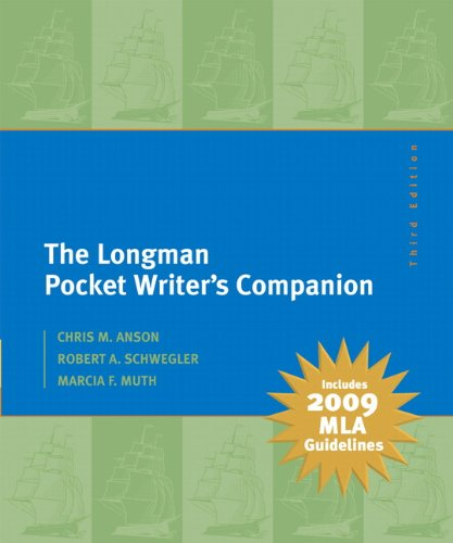 9780205741793: The Longman Pocket Writer's Companion: MLA Update Edition (3rd Edition)