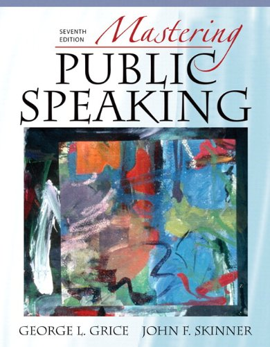 9780205743506: Mastering Public Speaking, Books a la Carte Plus MySpeechLab Pegasus (7th Edition)