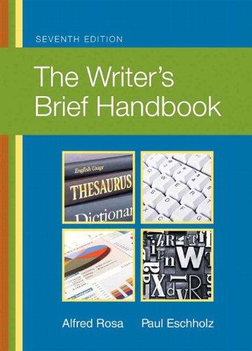 9780205744077: The Writer's Brief Handbook (7th Edition)