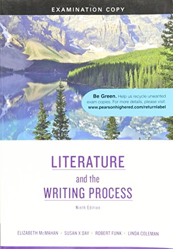 9780205745074: Literature and the Writing Process, Examination Copy