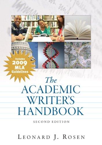 9780205745210: Academic Writer's Handbook, MLA Update Edition (2nd Edition)