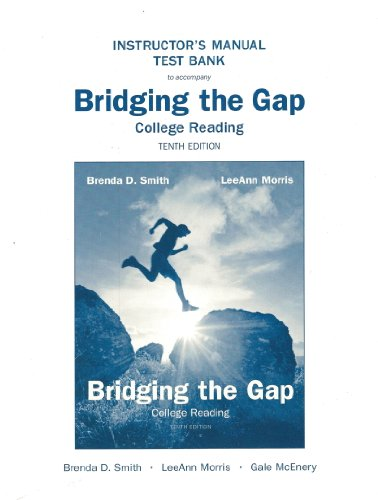 9780205747245: Instructor's Manual Test Bank to accompany Bridging the Gap College Reading