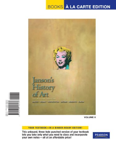 9780205748433: Janson's History of Art: Western Tradition, Volume 2, Books a la Carte Edition