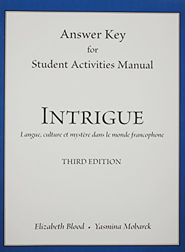 Answer Key for Student Activities Manual for: Elizabeth A. Blood;