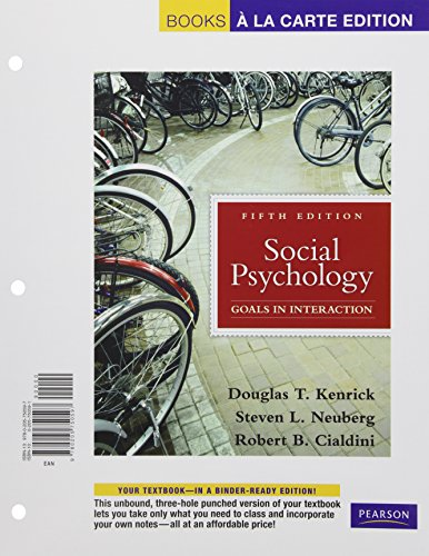 9780205750597: Social Psychology, Books a la Carte Edition (5th Edition)