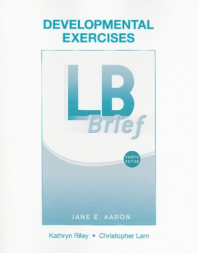 9780205751143: Developmental Exercises for LB Brief