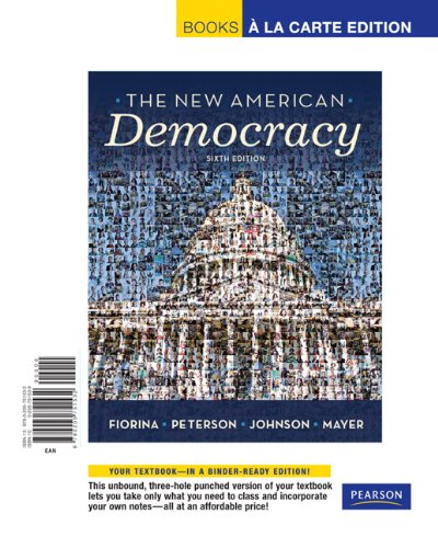 9780205751532: New American Democracy, The, Books a la Carte Edition (6th Edition)
