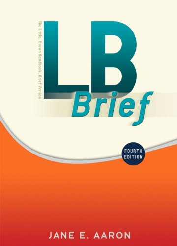 LB Brief with Tabs (4th Edition): Jane E. Aaron