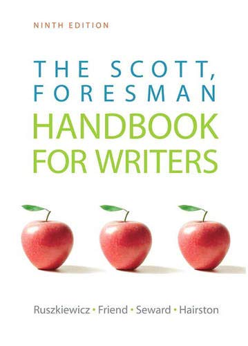9780205751983: The Scott, Foresman Handbook for Writers (9th Edition)