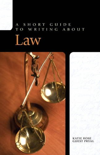 9780205752010: Short Guide to Writing About Law