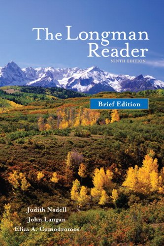 9780205752263: The Longman Reader, Brief Edition (9th Edition)