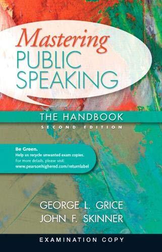 9780205752683: Mastering Public Speaking The Handbook