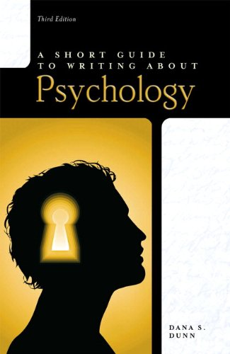 9780205752812: A Short Guide to Writing About Psychology, 3rd Edition (The Short Guide Series)