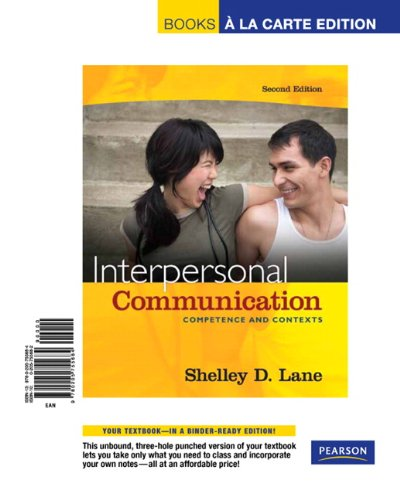 9780205755684: Interpersonal Communication: Competence and Contexts, Books a la Carte Edition (2nd Edition)