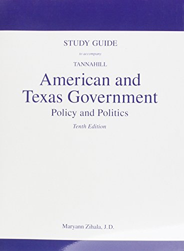 9780205759033: Study Guide for American and Texas Government: Policy and Politics