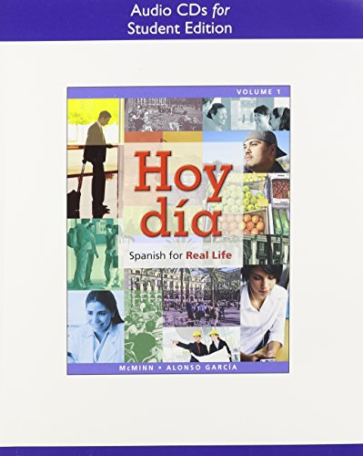 9780205761531: Audio CDs for Hoy dia: Spanish for Real Life, Volume 1