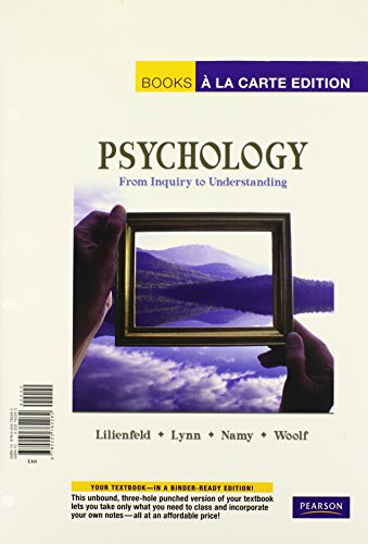 Psychology: From Inquiry to Understanding, Books a: Lilienfeld, Scott O.,