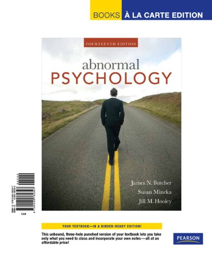 9780205762347: Abnormal Psychology, Books a la Carte Edition (14th Edition)