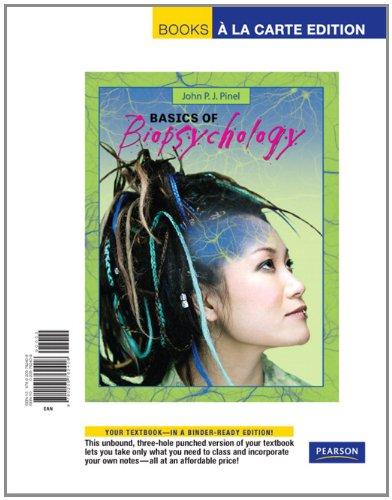 9780205762408: Basics of Biopsychology, Books a la Carte Edition