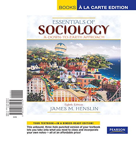 9780205762439: Essentials of Sociology: A Down-To-Earth Approach (Books a la Carte)