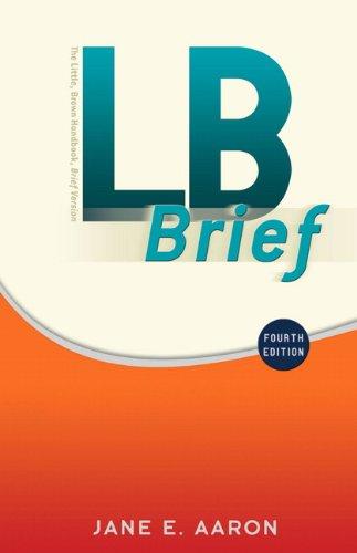 LB Brief (4th Edition) (MyCompLab Series): Jane E. Aaron