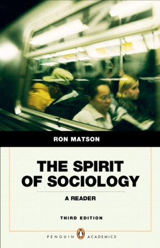 9780205762880: Spirit of Sociology (3rd Edition) (Penguin Academics)