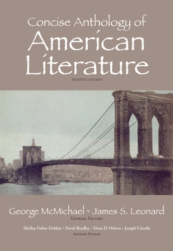 9780205763108: Concise Anthology of American Literature (7th Edition)
