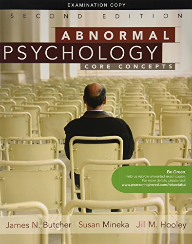 9780205765324: Abnormal Psychology Core Concepts