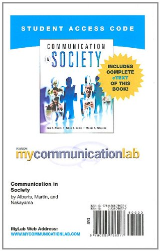 9780205766277: MyCommunicationLab with Pearson eText -- Standalone Access Card -- for Communication in Society (Mycommunicationlab (Access Codes))