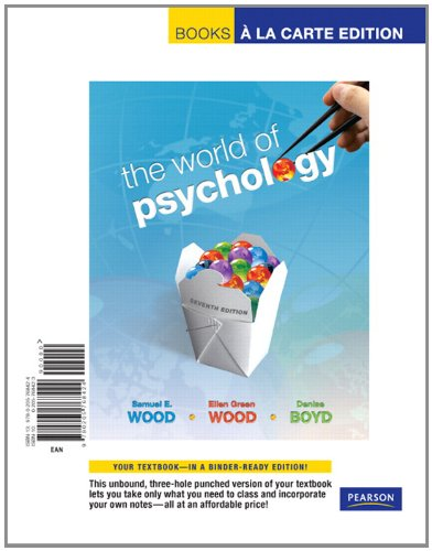 9780205768424: World of Psychology, The, Books a la Carte Edition