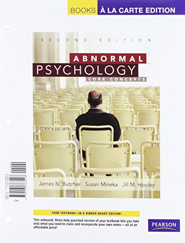 9780205768448: Abnormal Psychology: Core Concepts, Books a la Carte Edition (2nd Edition)