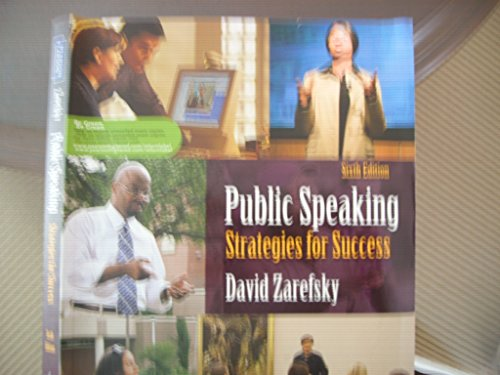 9780205770762: Public Speaking : Strategies for Success by David Zarefsky (2011, Hardcover)